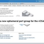 Create a newephemeral port group for the vCSA recovery