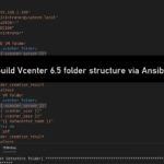 How to build Vcenter 6.5 folder structure via Ansible