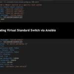 Creating Virtual Standard Switch via Ansible