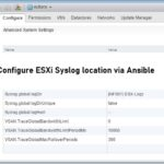 Configure ESXi Syslog location via Ansible