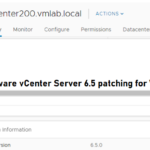 VMware vCenter Server 6.5 patching for Windows