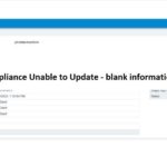 VCSA Appliance Unable to Update – blank information details